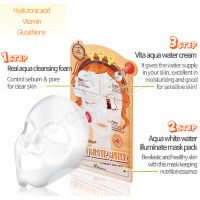ELIZAVECCA 3-step Aqua White Water Illuminate Mask Sheet