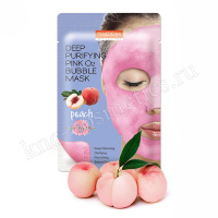 PUREDERM Deep Purifying Pink O2 Bubble Mask Peach